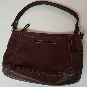 Fossil Brown Leather Shoulder Bag Purse